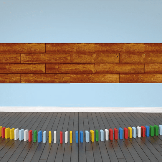 Thick-Plank Ship Lap Style Wood Stickers