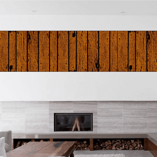 Rustic Ship Lap Style Wood Stickers
