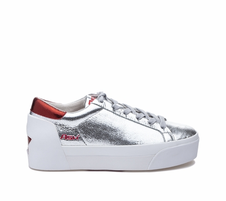 ASH Boogie BIS Silver/Red Sneaker