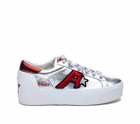 ASH Boogie Silver/Red Sneaker