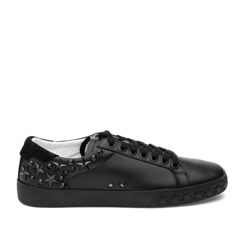 ASH Dazed Black/Black Leather Sneaker