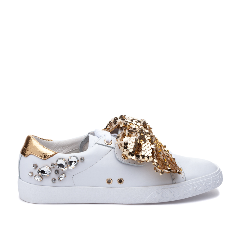 ASH Demon White/Gold Sneaker
