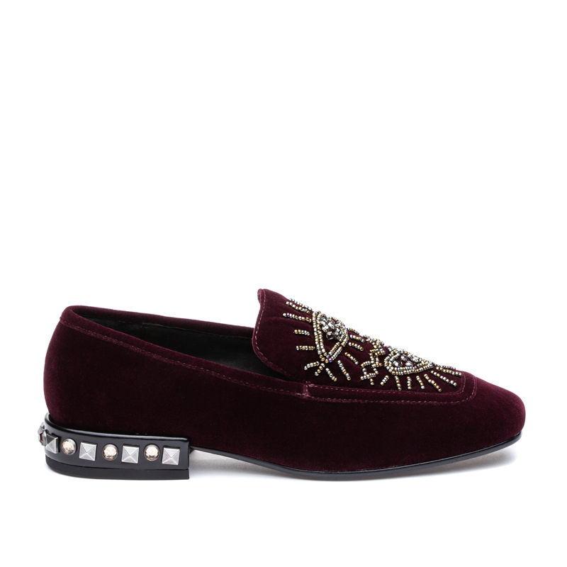 ASH Eyes Plum/Black Loafer