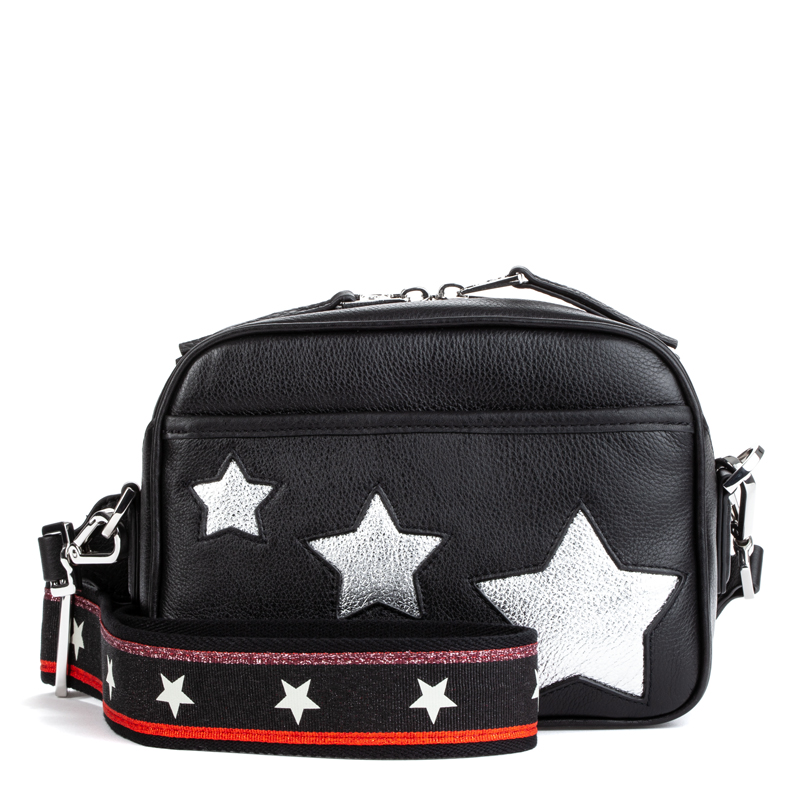 ASH Race Shoulder & Crossbody Bag Black/Silver