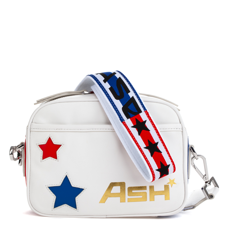 ASH Race Shoulder & Crossbody White/Red/Blue