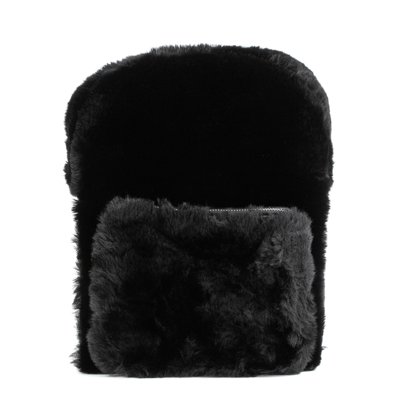 ASH Rehab Fur Backpack Black/Silver
