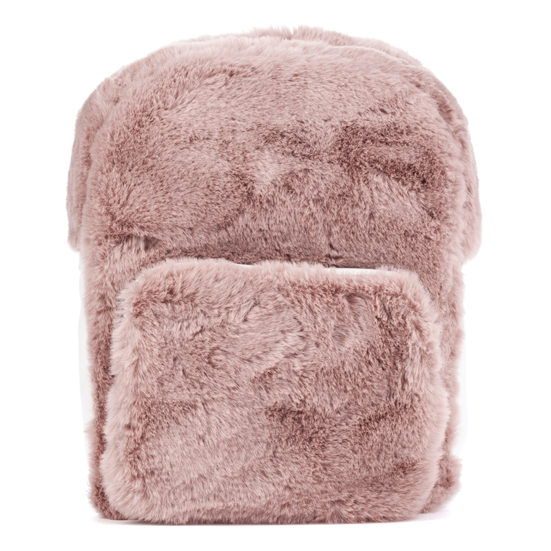 ASH Rehab Fur Backpack Rose/White/Silver