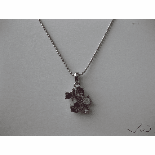 5 CZ Drop Necklace