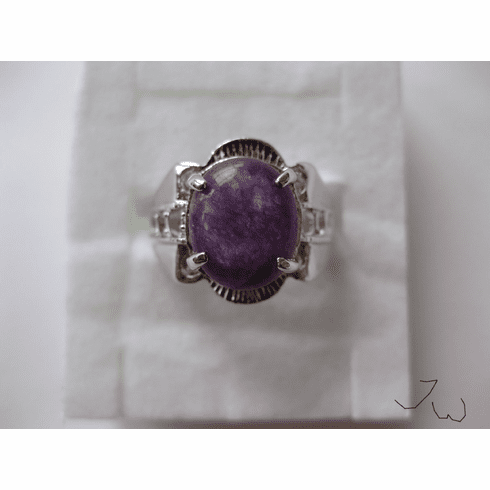 Amethyst Stone Ring - Size 8.25