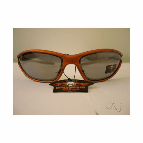 Biker sports wraps sunglasses- Orange