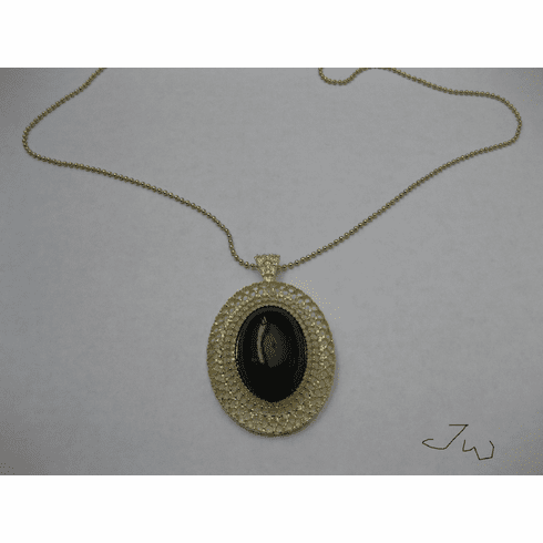 Black Round Necklace