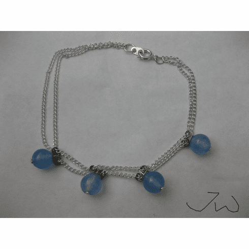 Blue Crystal Double Chain Bracelet
