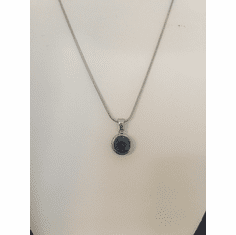 Blue CZ Drop Necklace