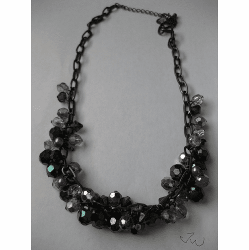 Crystal Beads Chain Necklace
