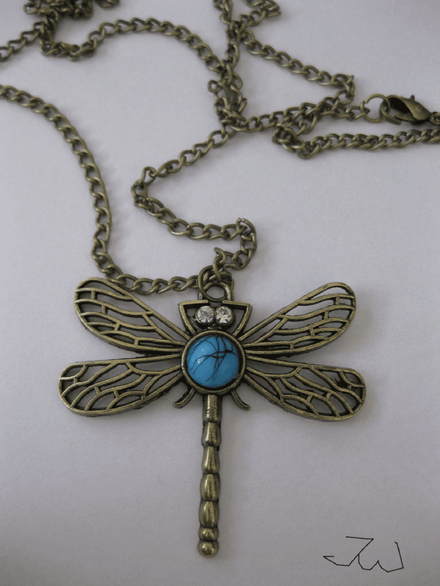 Dragonfly Pendant Chain Necklace