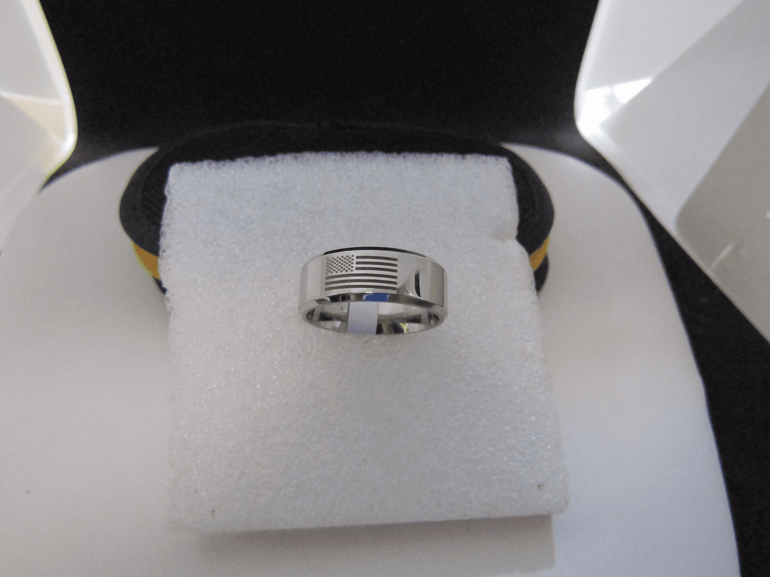 Flag Stainless Steel Ring
