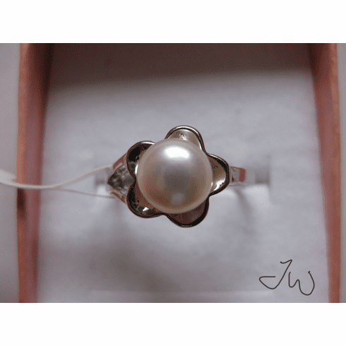 Freshwater Pearl 10KT White Gold Plated Ring - 007