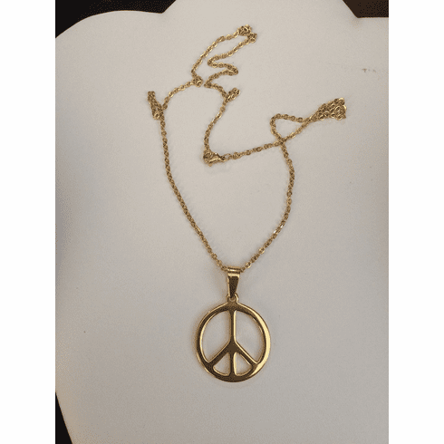 Golden Peace Necklace