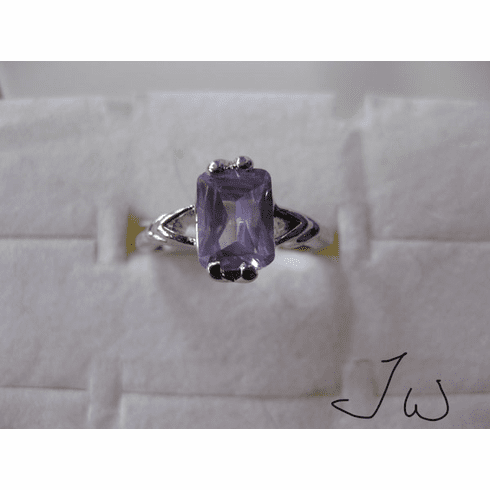 High Quality CZ Ring - Purple55