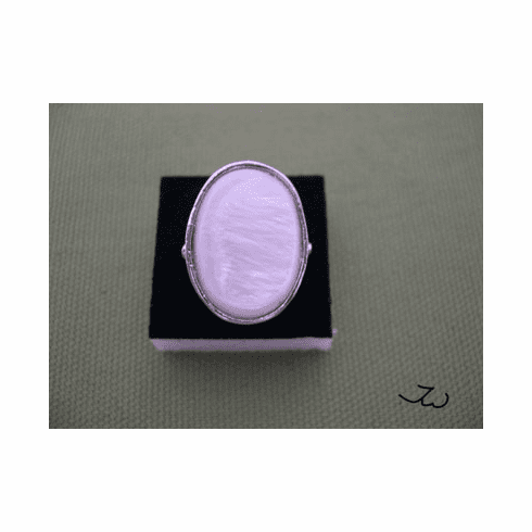 High Quality Shell 18KT White Gold Plated Ring - 65