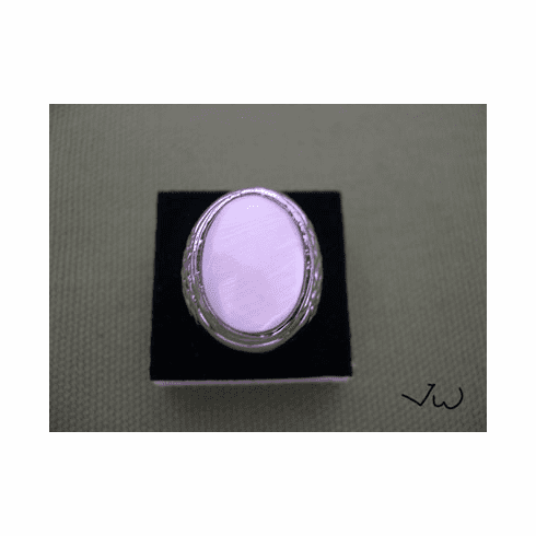 High Quality Shell 18KT White Gold Plated Ring - 75