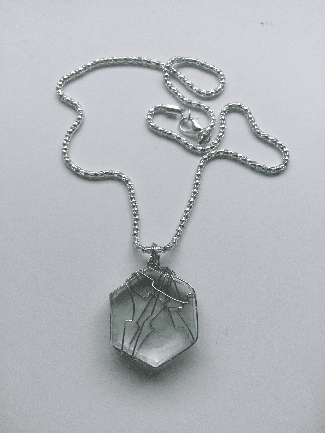 Ice Glass Wired Chain Necklace