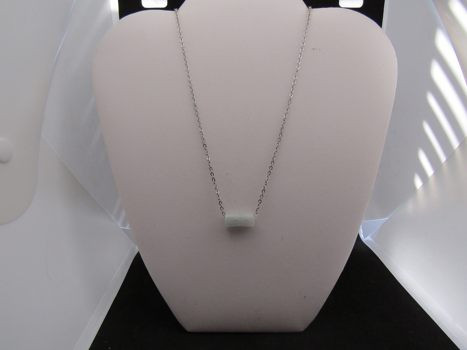 Jade Stainless Steel Chain Necklace
