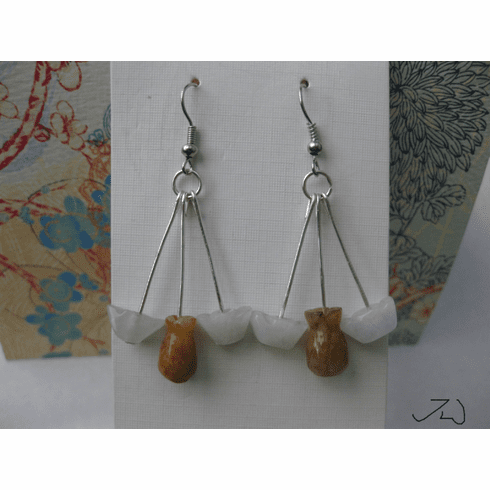 Jade Stainless Steel Earrings