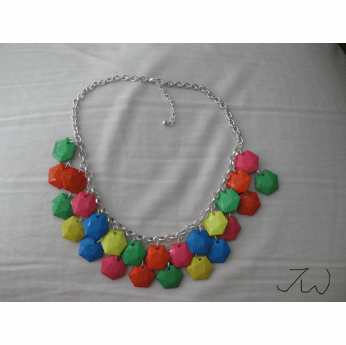 Mix Color Beads Statement Bib Necklace