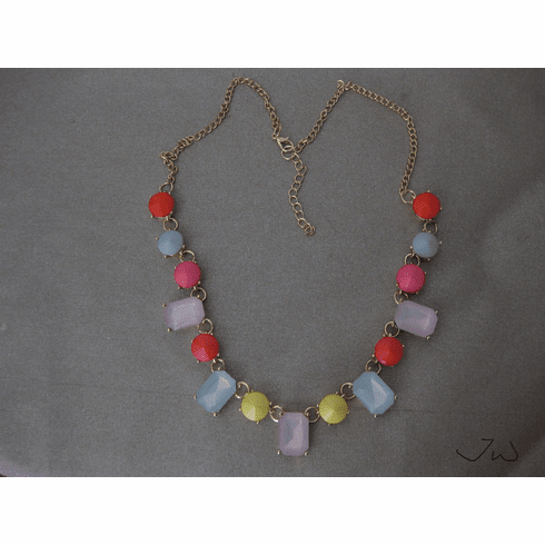 Mix Color Crystal Beads Statement Bib Necklace