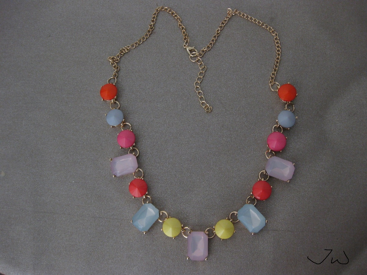 Mix Color Crystal Beads Statement Necklace