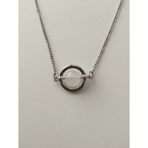 Moon crystal chain necklace