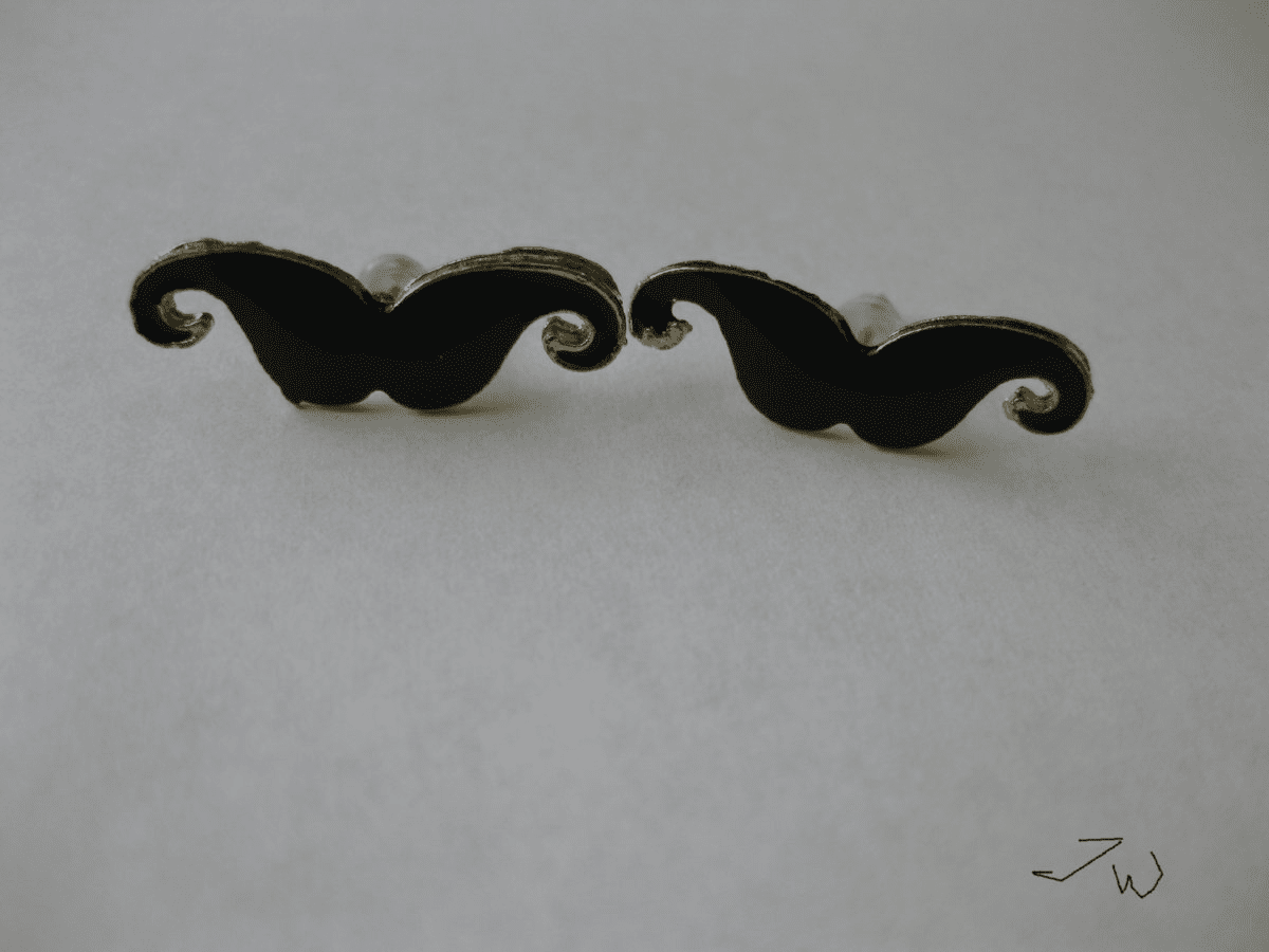 Mustache Stud Earrings