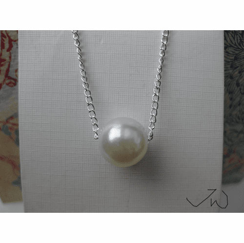 Pearl Bead Chain Necklace