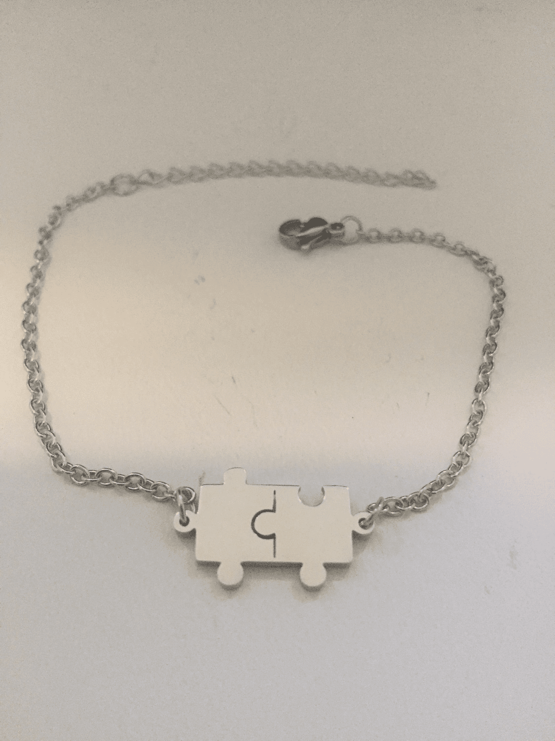 Puzzle Stainless Steel Chain Bracelet