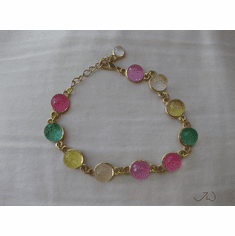 Rainbow Crystal Chain Bracelet