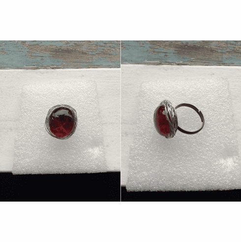 Red jelly candy ring with Silver Wire