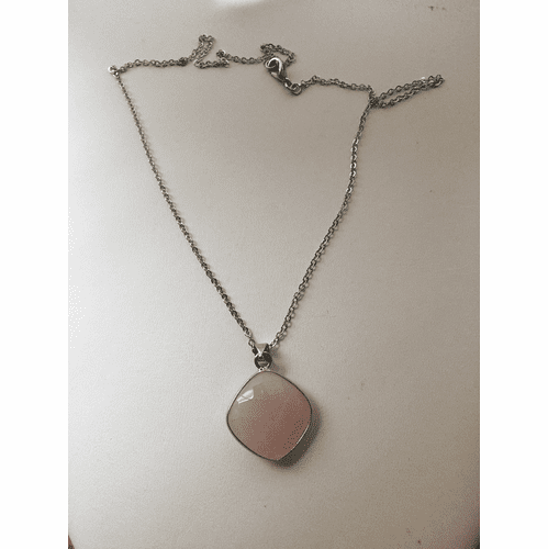 Rose Quartz Chain Necklace