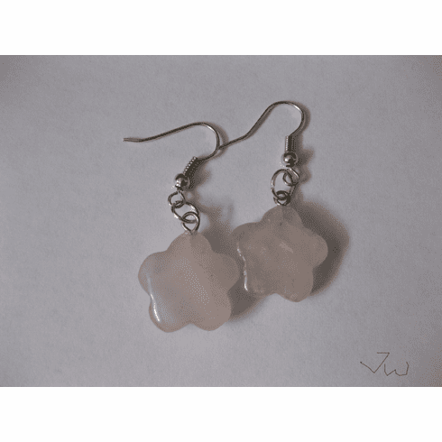 Rose quartz Stainless Steel Earrings
