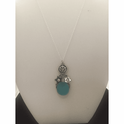 Sea glass Drop Chain Necklace