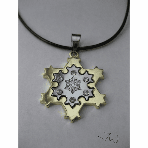 Snowflake Stainless Steel Pendant Necklace