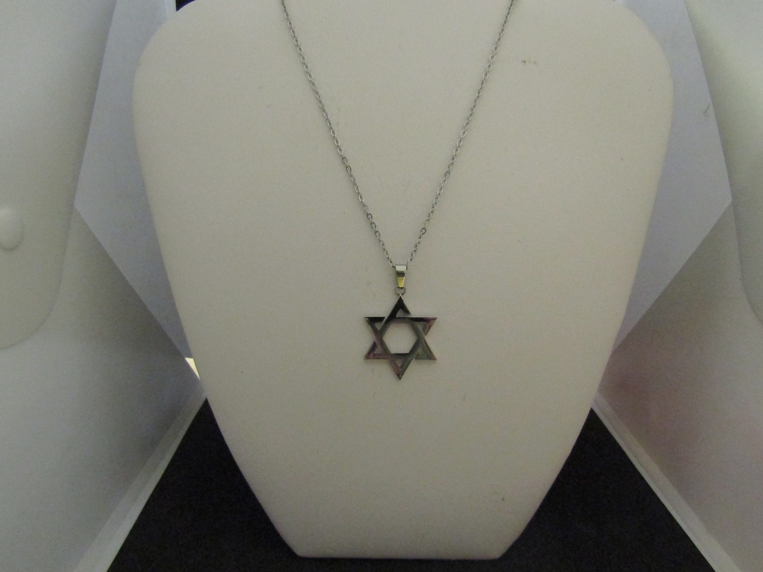 Star stainless steel chain necklace