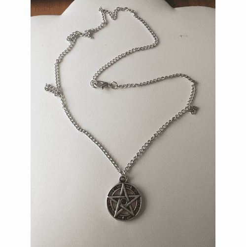 Star Tibetan silver Chain Necklace with CZs