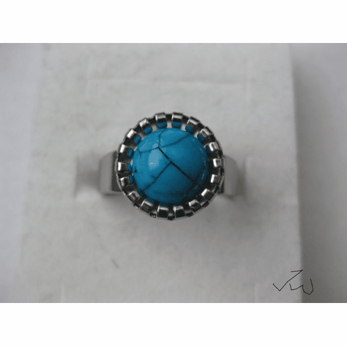 Turquoise Stainless Steel Ring