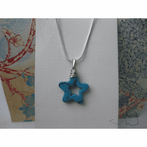 Turquoise Star drop Necklace