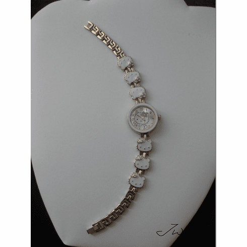 White Kitty Quartz Watch