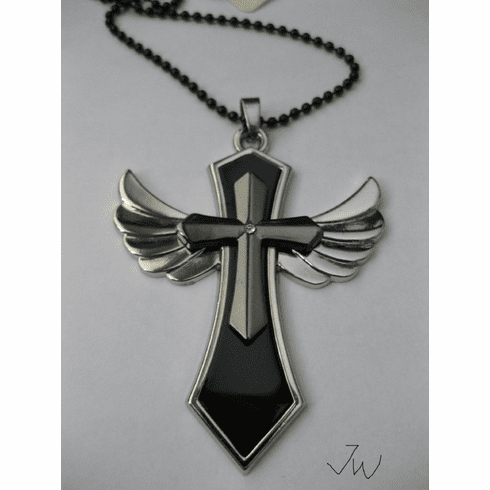 Wing Cross Stainless Steel Chain Necklace