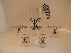 Acrylic Pitcher & Glasses