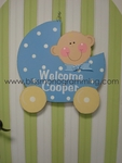 Baby Carriage Door Plaque