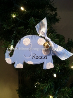 Baby Elephant Boy<br>Christmas Ornament<br>SOLD OUT